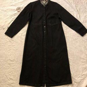 EUC Orvis Black Denim Buttoned Shirt Dress, Sz 14!